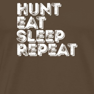 Eet Sleep Hunt Repeat - Mannen Premium T-shirt