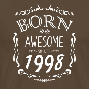Born to vara enormt sedan 1998 - Premium-T-shirt herr