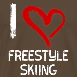 I love Freestyle Skiing - Männer Premium T-Shirt