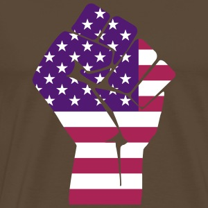 Fist with flag USA (colors customizable!) - Men's Premium T-Shirt