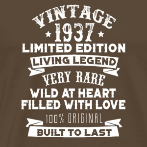 Vintaged 1937 Living Legend Built To Last - Men's Premium T-Shirt