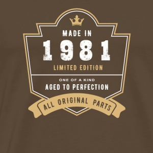 Made In 1981 Limited Edition All Original Parts - Men's Premium T-Shirt