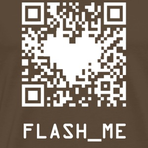 qrcode wite - T-shirt Premium Homme