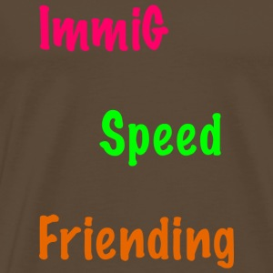 Immig Speed ​​Frieding / roze-groen-oranje - Mannen Premium T-shirt
