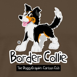 CartoonClub Border Collie Trico - Mannen Premium T-shirt