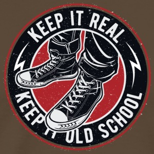 Keep it real Keep It Old School Vintage - Mannen Premium T-shirt