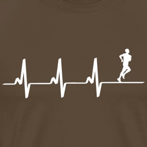 Heartbeat Jogger Heartbeat Heartfrequency freizeit - Men's Premium T-Shirt