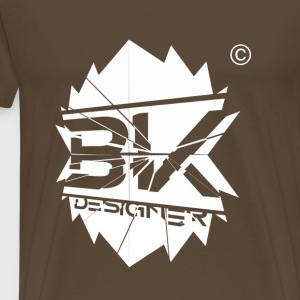bk white designer - Men's Premium T-Shirt