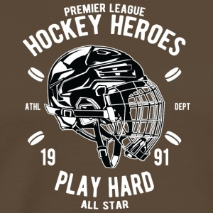 Hockey Heroes Ice Hjelm gave Ice jul - Herre premium T-shirt