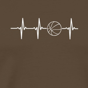 My heart beats for basketball - Men's Premium T-Shirt