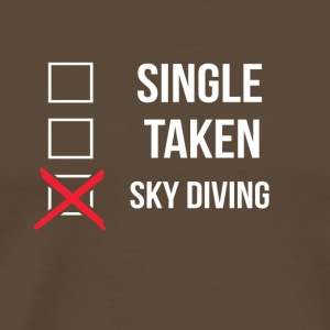 Single Taken Sky Diving - Männer Premium T-Shirt