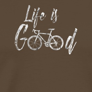 Life is good bike shirt bike gift - Men's Premium T-Shirt