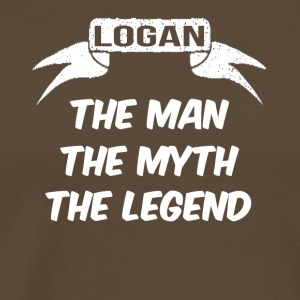 logan the man the myth the legend - Men's Premium T-Shirt