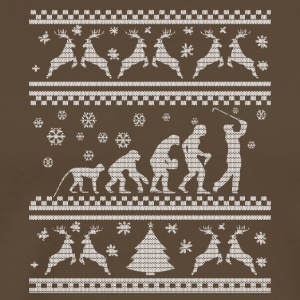 Evolution Golf julklapp Xmas ren - Premium-T-shirt herr