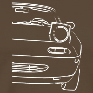 Car front lines for true car fans - Men's Premium T-Shirt