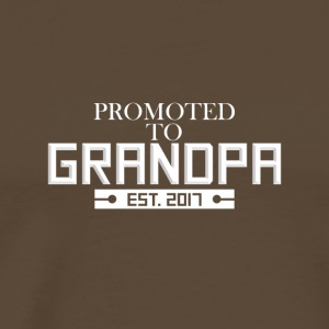 Promoted To Grandpa in 2017 Grandfathers Gift - Men's Premium T-Shirt