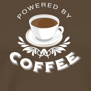Powered by Coffee - Mannen Premium T-shirt