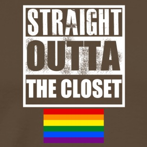 Staight Outta the Closet - Mannen Premium T-shirt