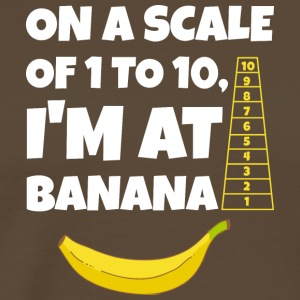 On a Scale of 1 to 10, I'm at Banana T-Shirt - Men's Premium T-Shirt