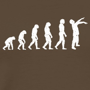 Evolution Zombie Death grappig RIP film-shirt - Mannen Premium T-shirt