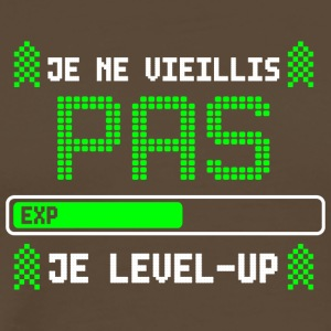 je ne vieillis pas je level up - T-shirt Premium Homme