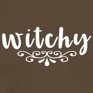 Kvinnor Witch - witchy - Premium-T-shirt herr