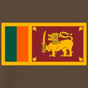 National Flag Of Sri Lanka - Premium-T-shirt herr