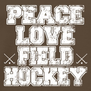 peace love landhockey - Premium T-skjorte for menn