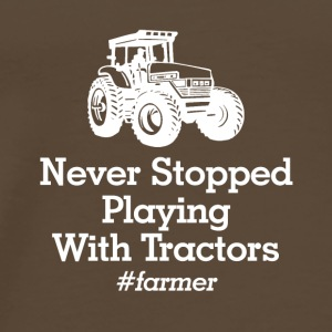 playinmg with tractors - Men's Premium T-Shirt