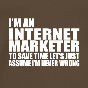 internet marketer - Men's Premium T-Shirt