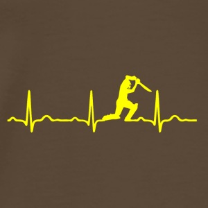 ECG HEARTBEAT SWORD FIGHTERS jaune - T-shirt Premium Homme