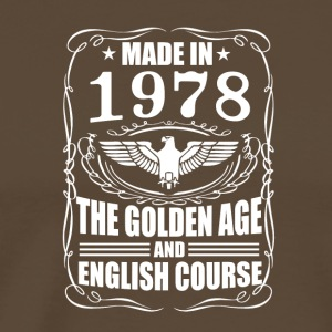 Made in 1978 - The Golden Age - Premium T-skjorte for menn