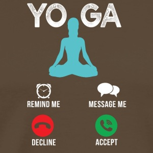 yoga Gets - Mannen Premium T-shirt