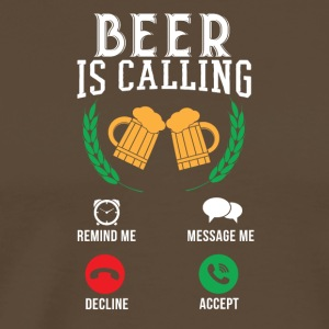 The beer calls - Men's Premium T-Shirt