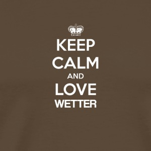 Keep Calm and love WEATHER - Men's Premium T-Shirt