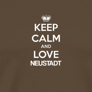 Keep Calm and Love NEUSTADT - Miesten premium t-paita