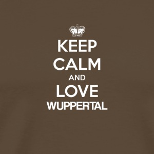 Keep Calm and Love WUPPERTAL - Miesten premium t-paita