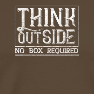 Nature lover THINK OUTSIDE - Men's Premium T-Shirt