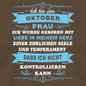 Birthday Card I'm Ms OKTOBER - Men's Premium T-Shirt