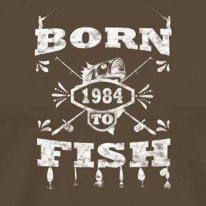 BORN TO FISH angle angeln 1984 - Männer Premium T-Shirt
