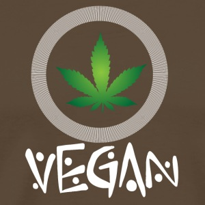 vegan t shirt Vegan marijuana - Men's Premium T-Shirt