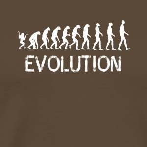 Evolution human ape gait development lo - Men's Premium T-Shirt