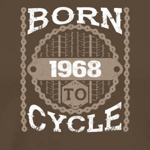 Born to cycle moutainbike bicycle 1968 - Men's Premium T-Shirt