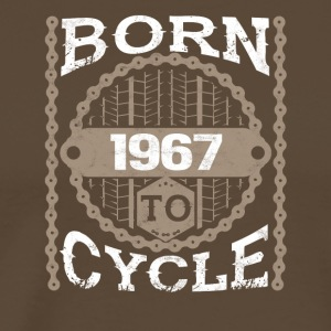 Born to cycle moutainbike bicycle 1967 - Men's Premium T-Shirt