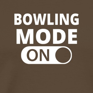 MODE ON BOWLING - Premium T-skjorte for menn
