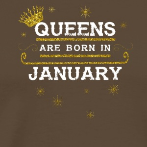 Queensborn JANUARY - Men's Premium T-Shirt