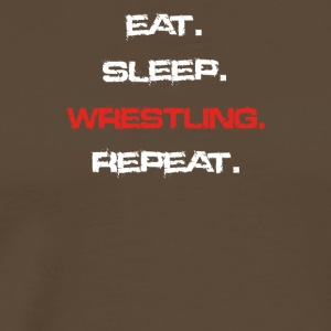 eat sleep repeat WRESTLING - Männer Premium T-Shirt