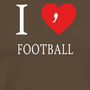 J'aime le football touchdown running back - T-shirt Premium Homme