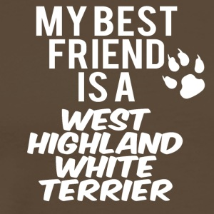 min ven er en west highland white terrier - Herre premium T-shirt