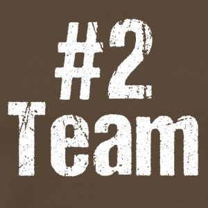 Team Teamplayer Hashtag Number 2 two team - Men's Premium T-Shirt